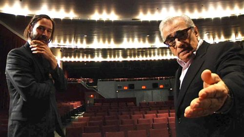 Let's get digital, digital: Keanu Reeves and Martin Scorsese