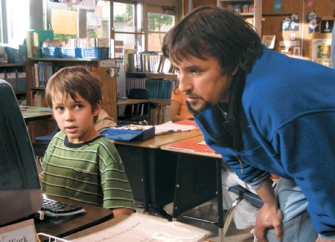 Period Piece: Ellar Coltrane and director Richard Linklater check out some very dated hardware