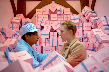 Box art: Tony Revolori and Saoirse Ronan in The Grand Budapest Hotel